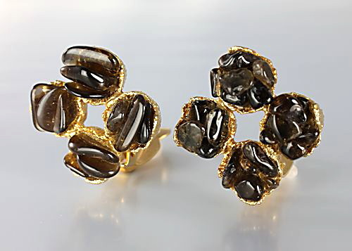 Swoboda Smokey Quartz Earrings 1960s