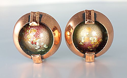 Matisse Renoir Copper enamel Earrings Modernist