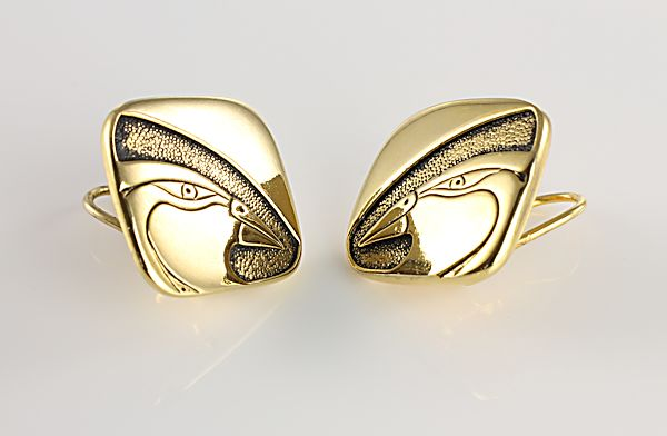 Laurel Burch Mynah Bird clip Earrings