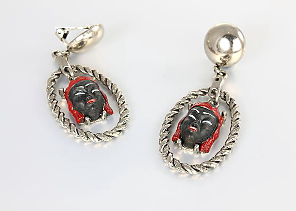 Selro Blackamoor Princess Earrings Dangle clip