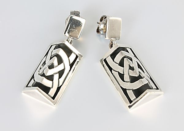 Brilanti silver 950 Celtic Earrings