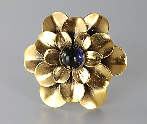 Joseff of Hollywood Camellia Flower Brooch Pin