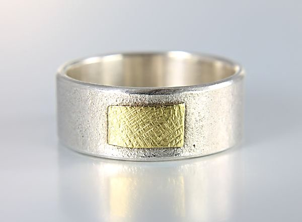 Lisa Ceccorulli Sterling silver Gold Modern Ring