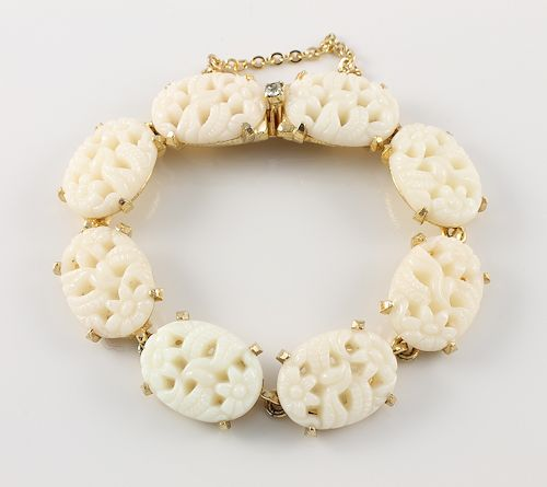 Denicola faux Ivory Bracelet Asian revival