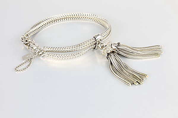 Monet Tassel Bracelet Double Chain vintage jewelry