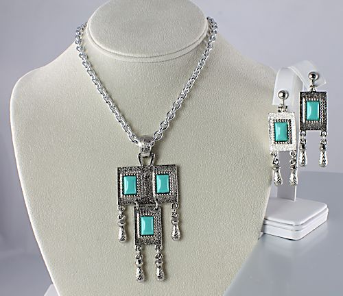 Sarah Coventry Turquoise Folklore Necklace earrings