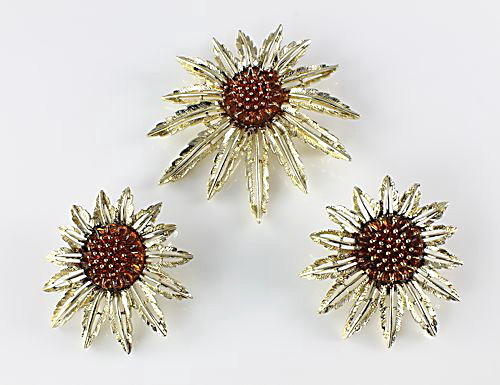 Sarah Coventry Starburst Brooch Earrings set